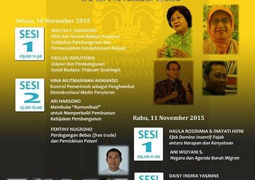 Pembangunan Indonesia 2016-2019 Auditorium Komunikasi